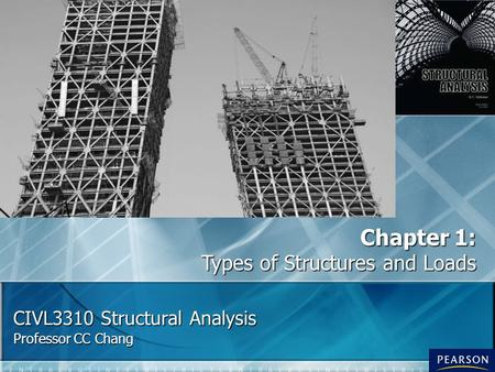 CIVL3310 Structural Analysis Professor CC Chang Chapter 1: Types of Structures and Loads.