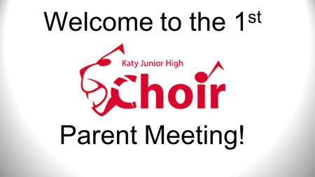 Welcome to the 1 st Parent Meeting!. 1.) Fee Form/$40 2.) Handbook Acknowledgement 3.)Medical and Transportation Permission.