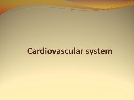 Cardiovascular system 1. The circulatory system 2 The function is to transport O 2 and nutrients to the cells of the body and to carry away CO 2 and other.