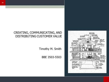 CREATING, COMMUNICATING, AND DISTRIBUTING CUSTOMER VALUE Timothy M. Smith BBE 3503-5503.