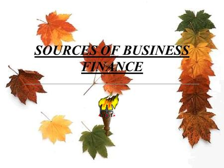 SOURCES OF BUSINESS FINANCE SOURCES OF BUSINESS FINANCE  INTRODUCTION  This chapter provides an overview of the various sources from where funds can.