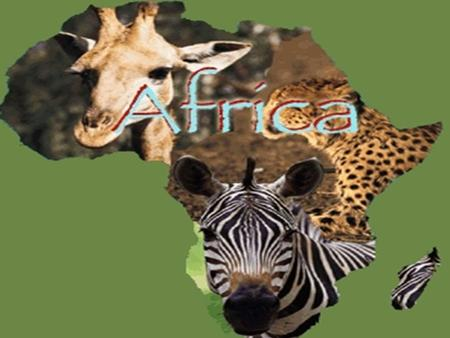 Did You Know???? Africa is the world's second-largest continent.