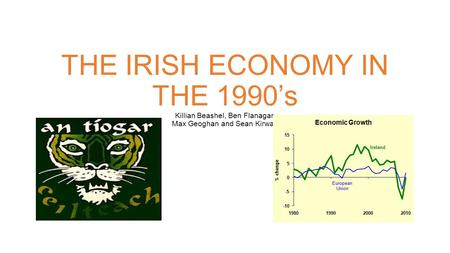 THE IRISH ECONOMY IN THE 1990's Killian Beashel, Ben Flanagan Max Geoghan and Sean Kirwan.