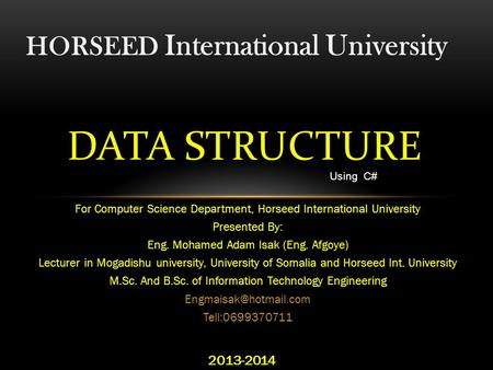 HORSEED International University