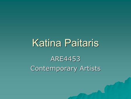 Katina Paitaris ARE4453 Contemporary Artists. Cai Juo-Qaing  born in 1957 in Quanzhou City, Fujian Province, China, and lives and works in New York.