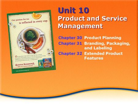 Unit 10 Product and Service Management