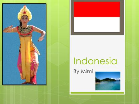 Indonesia By Mimi. Geography  Indonesia is located north west of Australia.  17,500 islands make up Indonesia and over 6,000 of them are inhabited.