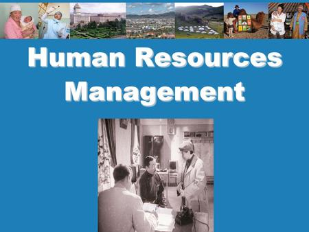 Human Resources Management. 2 Policy and planning.
