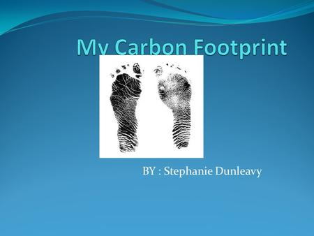 BY : Stephanie Dunleavy. A Carbon footprint is a measure of the impact our activities have on the environment, and in particular climate change. It relates.
