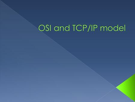  The Open Systems Interconnection model (OSI model) is a product of the Open Systems Interconnection effort at the International Organization for Standardization.