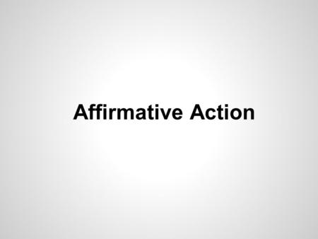 Affirmative Action. Basis of classificationStandard of reviewApplying the test RaceInherently suspect (difficult to meet) Is the classification necessary.