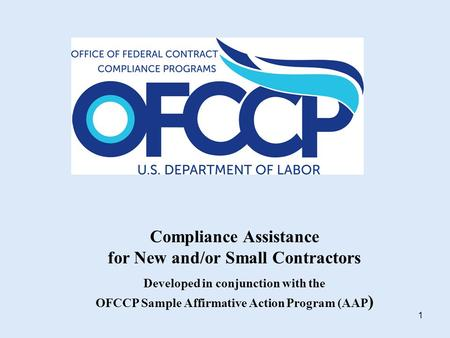 Ofccp Compliance Evaluation  Sandra M Dillon Branch Chief