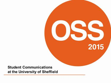 Student Communications at the University of Sheffield.