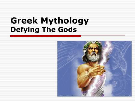 Greek Mythology Defying The Gods