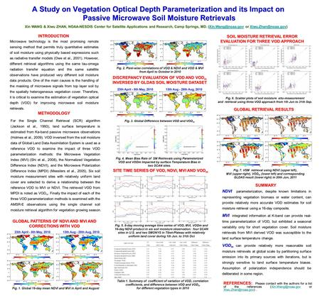 A Study on Vegetation OpticalDepth Parameterization and its Impact on Passive Microwave Soil Moisture Retrievals A Study on Vegetation Optical Depth Parameterization.