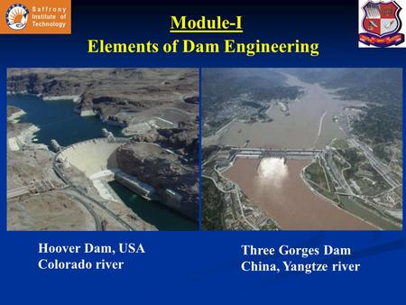 Elements of Dam Engineering