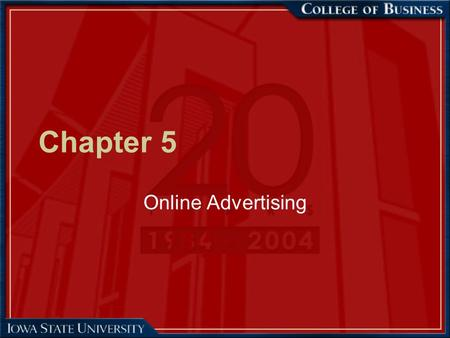 Chapter 5 Online Advertising. 2 Web Advertising Overview –Advertising is an attempt to disseminate information in order to affect buyer-seller transactions.