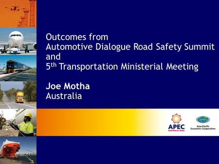 Outcomes from Automotive Dialogue Road Safety Summit