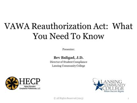 VAWA Reauthorization Act: What You Need To Know