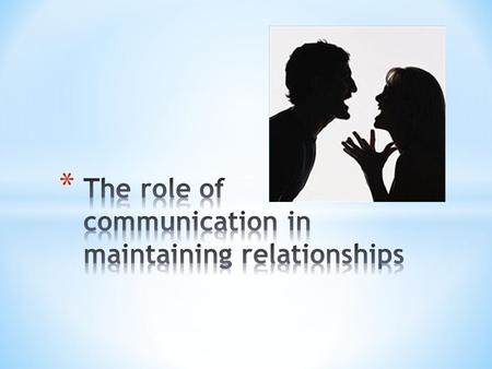* Unhealthy and healthy relationships Could depend on how they communicate (and if at all!) Attributional style – behaviours – are they dispositional.