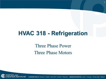 Three Phase Power Three Phase Motors