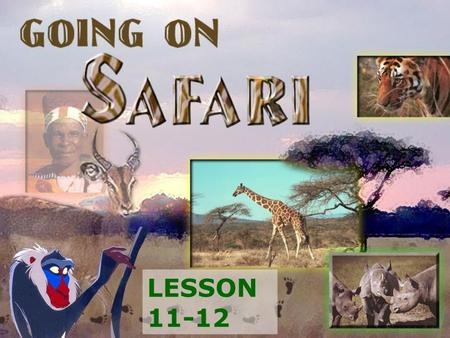 LESSON 11-12. begin to plan a trip. ask questions to help you plan it. access information from the Internet. visit the Maasai Mara National Reserve. be.