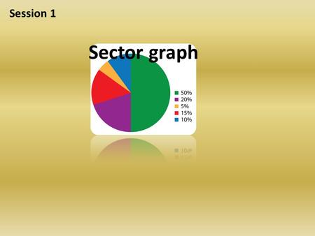 Sector graph Session 1. Sector graph Circle graph Pie chart Use sectors of a circle to show sizes of parts.
