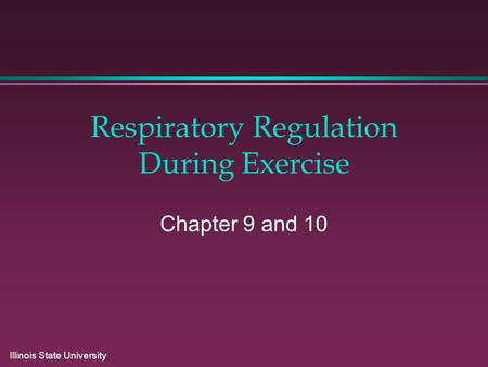 Respiratory Regulation During Exercise