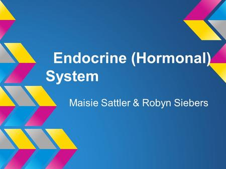 Endocrine (Hormonal) System