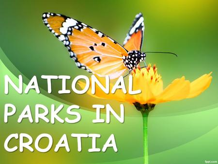 NATIONAL PARKS IN CROATIA. Brijuni Brijuni are beautiful islands and National Park in the Adriatic Sea. the two largest islands are Big Brijun (7 km 2.