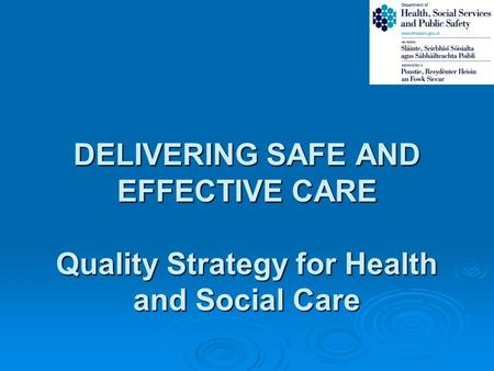 HSC Quality Policy Development