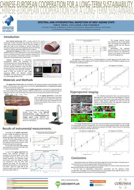 SPECTRAL AND HYPERSPECTRAL INSPECTION OF BEEF AGEING STATE FERENC FIRTHA, ANITA JASPER, LÁSZLÓ FRIEDRICH Corvinus University of Budapest, Faculty of Food.