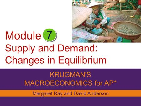 Module Supply and Demand: Changes in Equilibrium