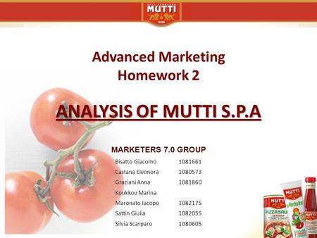 Advanced Marketing Homework 2