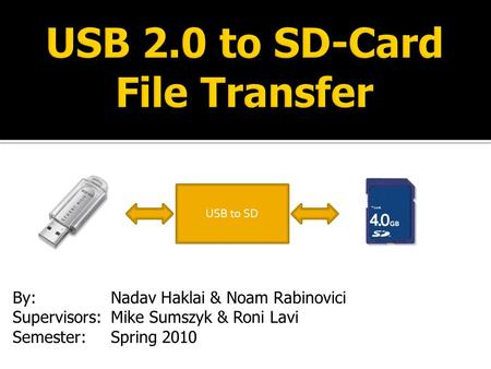 USB 2.0 to SD-Card File Transfer