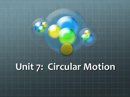 Unit 7: Circular Motion. Vote #1 Is the car accelerating?