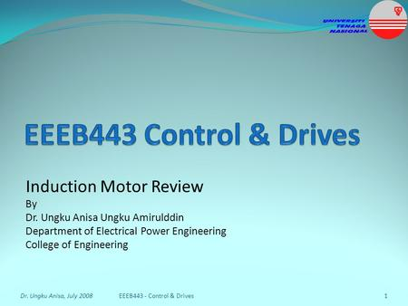 EEEB443 Control & Drives Induction Motor Review By