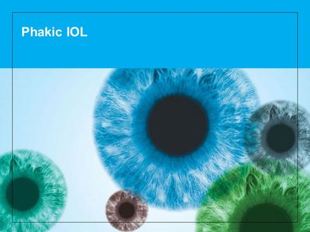 Phakic IOL. 2 How the eye works Light rays enter the eye through the clear cornea, pupil and lens. These light rays are focused directly onto the retina,