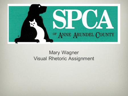 Mary Wagner Visual Rhetoric Assignment. Every year, approximately 6-8 million animals are surrendered to shelters throughout the United States.