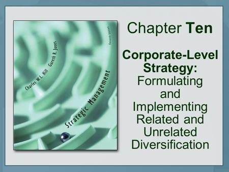 Chapter Ten Corporate-Level Strategy: Formulating and