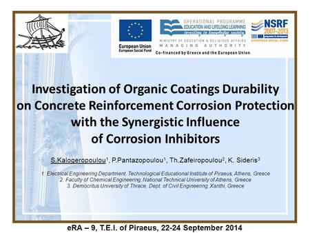 Investigation of Organic Coatings Durability