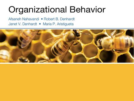Chapter 1: Introduction to Organizational Behavior.