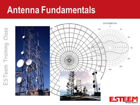 ESTeem Training Class Antenna Fundamentals. Decibels (dB) Used for all mathematical calculations in the radio world. – dB is a logarithmic number dB =10.