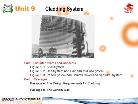 Unit 9 Cladding System Part ⅠIllustrated Words and Concepts