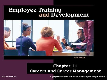 Chapter 11 Careers and Career Management