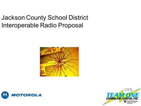 Jackson County School District Interoperable Radio Proposal.