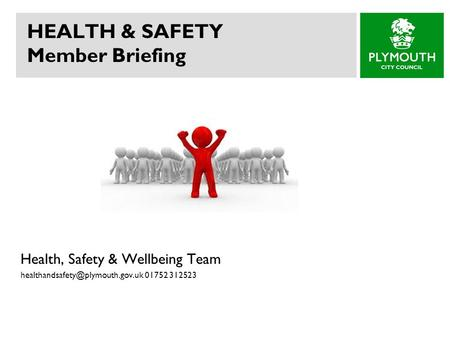 HEALTH & SAFETY Member Briefing Health, Safety & Wellbeing Team 01752 312523.