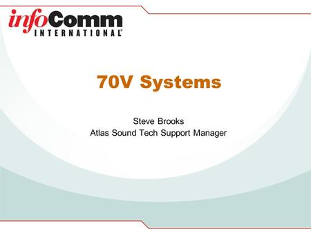Steve Brooks Atlas Sound Tech Support Manager