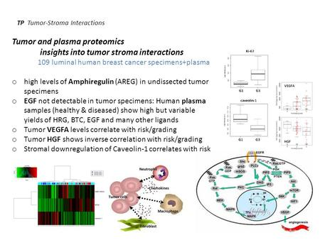 TP Tumor-Stroma Interactions Tumor and plasma proteomics insights into tumor stroma interactions 109 luminal human breast cancer specimens+plasma o high.