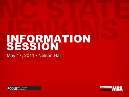 INFORMATION SESSION May 17, 2011 Nelson Hall. PROGRAM OPTIONS.